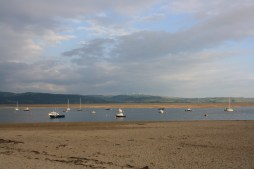 A view of the Aberdovey estuary with the tide out.