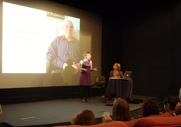 Lisa Heledd Jones (L) and Karen Lewis (R) of StoryWorks