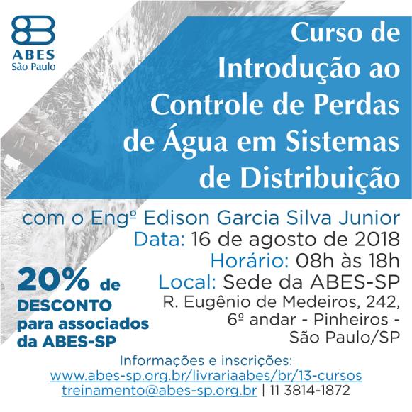 Banner Curso de Introdução ao Controle de Perdas de Água em Sistemas de Distribuição redes sociais - Copia