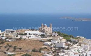 Syros view Cyclades Greece