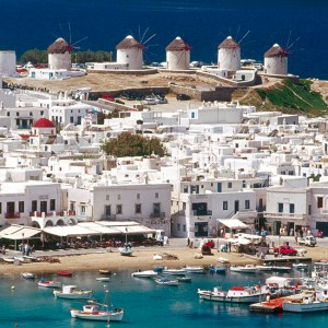 Mykonos island in the Cyclades islands of Greece