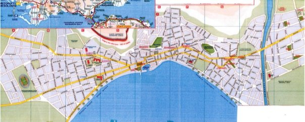map of Nafpaktos, Greece