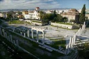 roman agora in Athens, Greece