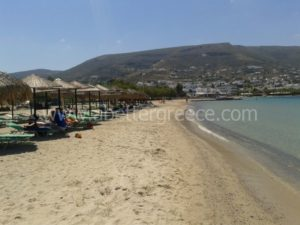 Livadia beach on Paros island in Greece