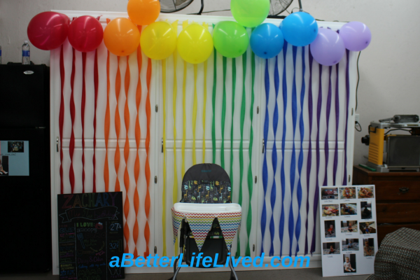 A great way to get the most value for your effort decorating for a first birthday party!