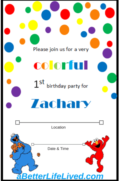 Homemade First Birthday Invitations Using Clip Art