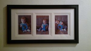 Mother's Day Gift Idea-3 panel photo collage spelling MOM