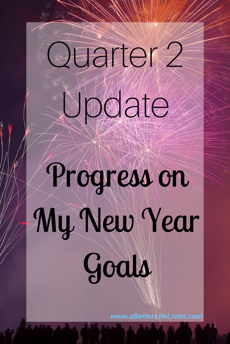 My quarter 2 progress update on my New Year goals! See where I've nailed it, and where I failed it! The struggle is real!