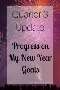 My quarter 3 progress update on my New Year goals! See where I've nailed it, and where I failed it! The struggle is real!