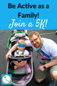 Family participating in 5k