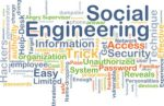 Background concept wordcloud illustration of social engineering
