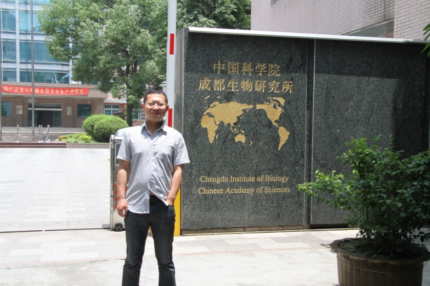Yin outside Chengdu Institute of Biology (CIB)