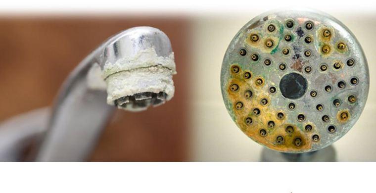 الرواسب المعدنية بسبب عسر الماء