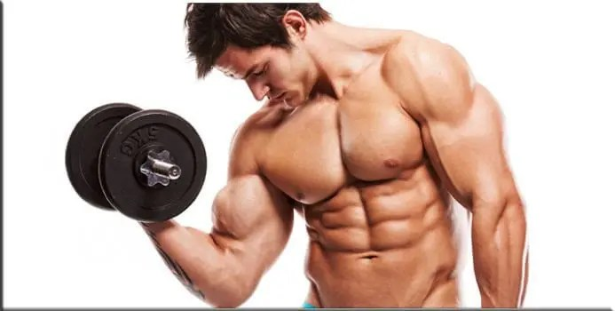 Bodybuilder using Testosterone Booster