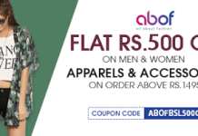 Abof fashion rs off on rs shopping coupon