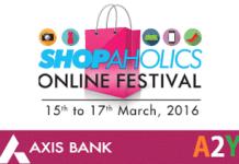 Axis bank Shopaholics online festival
