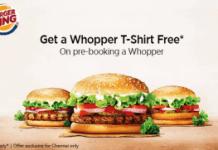 burger king get t shirt free with whopper burger chennai loot