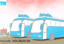 paytm rs cashback on bus tickets HOLIBUS