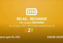 peppertap recharge  off offer weekend