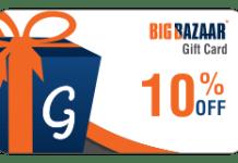bigbazaar gift cards  off on giftscombo