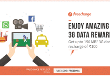 freecharge  mb free data offer FREEDATA
