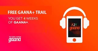 gaana  days free trail offer