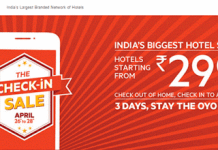 oyorooms the checkin sale  th april