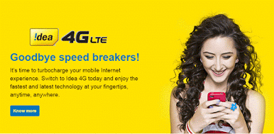 Free 30GB 4G Data for Idea Users