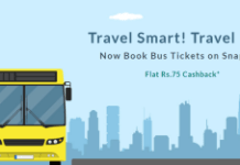 snapdeal flat Rs  cashback on bus tickets booking