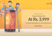 snapdeal intex cloud fame g smartphone at  only