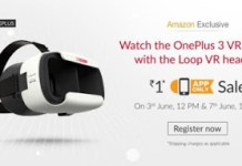 amazon app launch loot offer oneplus vr ar re only
