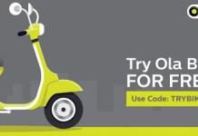 ola bike ride tryolabikefb offer