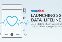 snapdeal g data lifeline