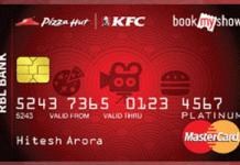 rbl bank fun credit card free movie tickets