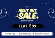 shopclues night out sale at rs