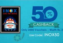 inox  cashback offer crownit