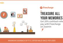 zoomin pay via freecharge  cashback