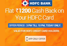 hdfc bank goibibo loot offer  cashback