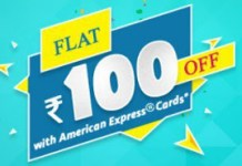Bookmyshow Get flat Rs  off via Amex Cards