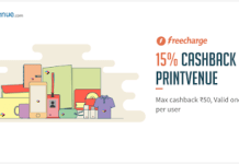 printvenue freecharge  cashback loot offer deal