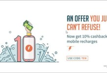 Freecharge Get  cb on recharge TEN