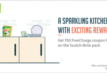 freecharge loot offer  cashback code scotch brite