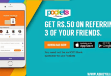 icici pockets referral