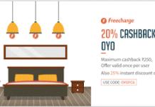 freecharge  cashback oyo