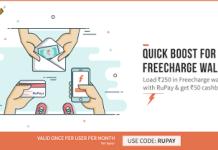 freecharge rupay add money