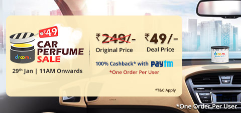 (Live) Droom - Get Car Perfume at Rs 21 only on 14th Nov (11AM)