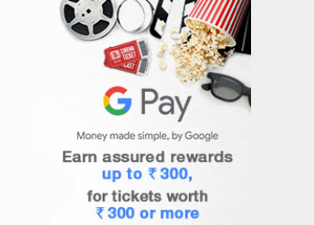 Google Pay BookMyShow Scratch Card Offer