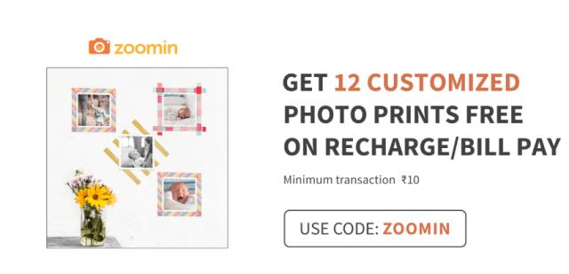 Zoomin Free12 Customized Photo Prints: