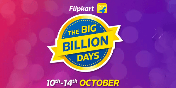 Flipkart Big Billion Days Offers & Deals: Biggest Sale (10th-14th Oct)