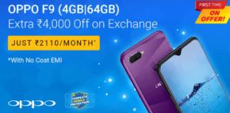 Oppo F9 Flipkart Deal